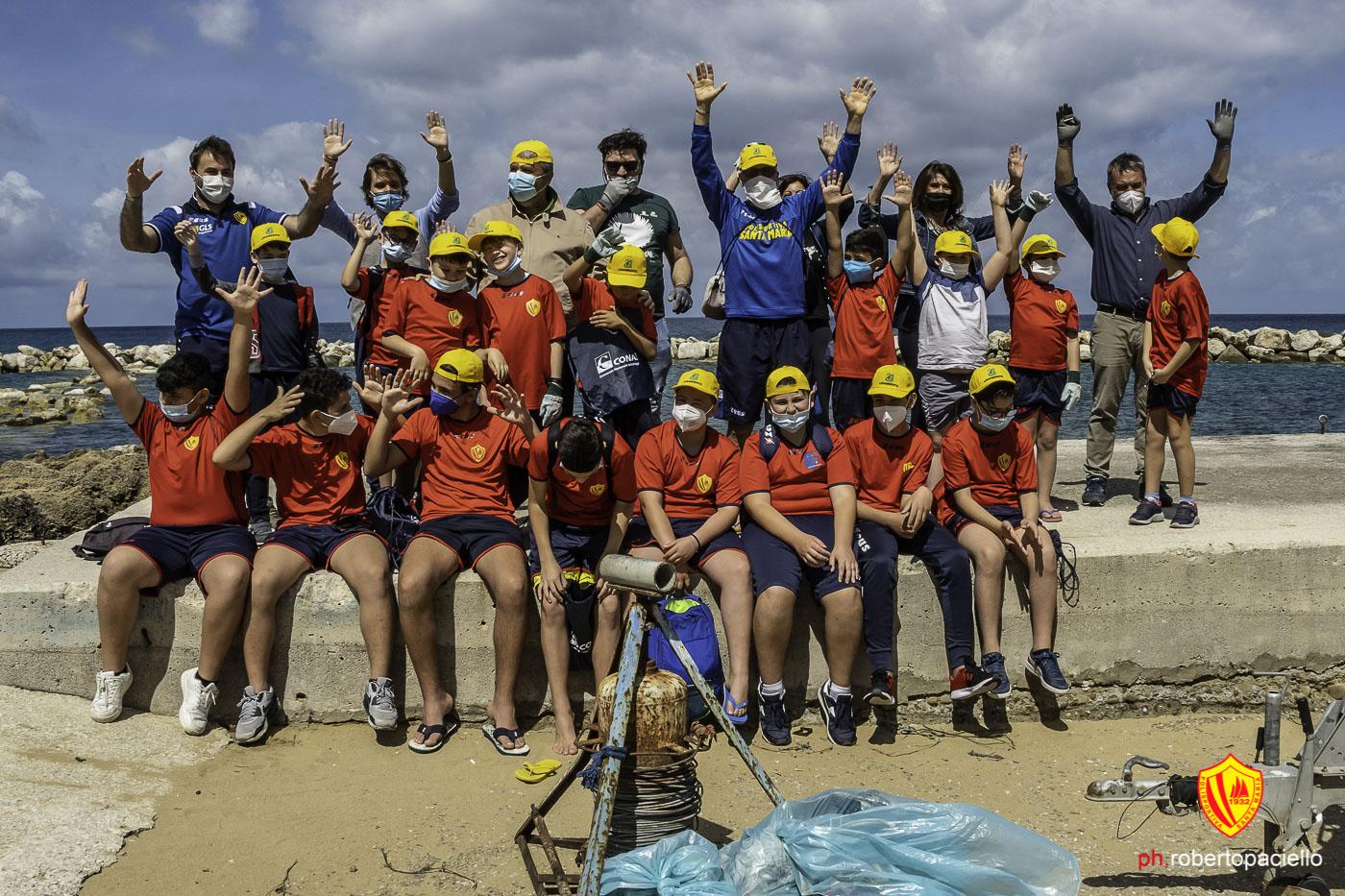 Scuola calcio in campo per l'ambiente, i giovani giallorossi hanno preso parte a